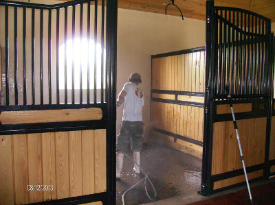 Pressure washing is a great way to clean your barn