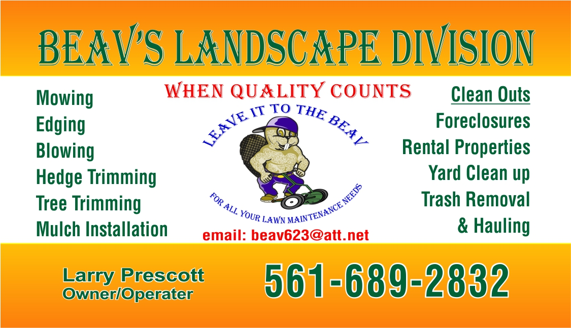 Beav's Window Washing - Landscape Division