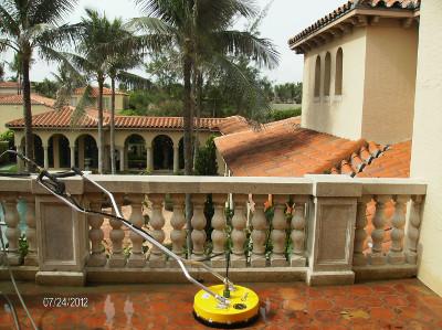 Decks, patios, balconies can all benefit from pressure cleaning