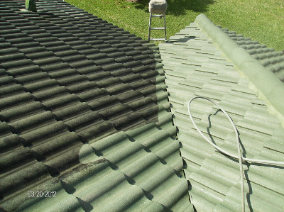 Pressure washing your roof can add to longevity of your roof