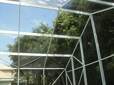After Beav's Window Cleaning cleaned the screen enclosure in West Palm Beach