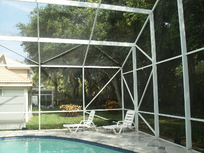 Screen enclosure cleaning in West Palm Beach